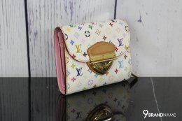 LOUIS VUITTON Porutofoiyu Joy tri-fold wallet Monogram Multi-Color PVC leather white 01