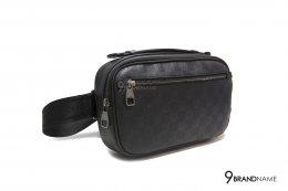 Louis Vuitton Belt Bag AMBLER Black leather N41289