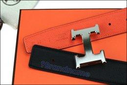 Hermes Belt 95 Orange Epsom Black