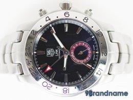 Tag Heuer New Link Auto GMT 4ปุ่ม Man Size Steel นาฬิกาแท็กฮอย์เออร์ หน้าปัดดำ วงในแดงหลักขีดแมนไซส์ ของแท้ราคาถูกค่ะ