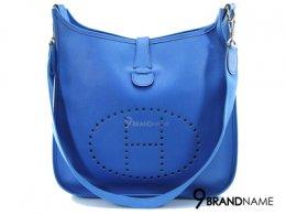 Hermes Everlyn Blue Paradise Epsom Leather GM  - Used Authentic Bag กระเป๋ษแอร์เมส รุ่น บรูคลิน สีฟ้าคราม หนัง เอฟซัม ไซส์ GM รุ่นนี้ปรับสายไม่ได้น่ะค่ะ ของแท้มือสอง สภาพดีค่ะ