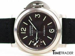 Officine Panerai PAM 118 Titanium นาฬิกาอ๊อฟฟิซิเน่ พาเนอไร แพม118 หน้าปัดสีดำ ไขลานหลังเปลือย 44mm อุปกรณ์กล่องใบครบ ขายนาฬิกาของแท้มือสอง สภาพดีค่ะ
