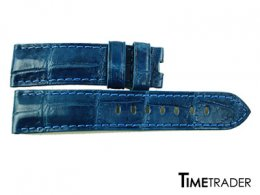 Crocodile Watch Strap Blue Color