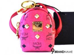 MCM Stark  Backpack  Mini Keychian Pink
