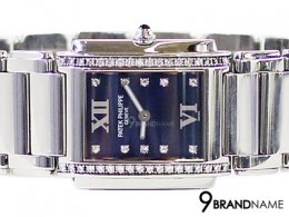Patek Philippe Twenty4 4910  10 a-012 SS quartz blue Womens s twenty four 24