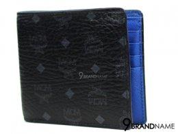 MCM Wallet 8 Crad Black Blue