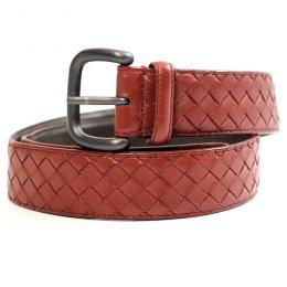 Bottega Veneta Belt Size 90  - Used Authentic Bag  เข็มขัด บอเทก้า สีน้ำตาลแดง ความยาว90 ซม มือสอง ของแท้ค่ะ