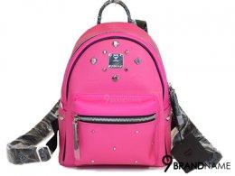 MCM Back Pack PVC Hot Pink Size Mini
