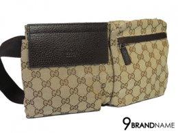 Gucci Belt Bag Brown Color - Used Authentic Bag กระเป๋ากุซซี่ คาดอก สีน้าตาลผ้า ลายโลโก้ หนังสีน้ำตาล สภาพดีมาก เหมือนใหม่ ของแท้ มือสอง สภาพดีค่ะ