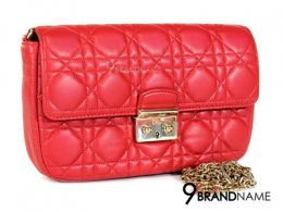 Used Like New Christian Dior Miss Dior Promenade Pouch Red Lambskin GHW