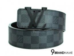New Louis Vuitton Belt LV  Initiaes Damier Graphite Canvas Size 90