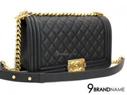 Chanel Boy 10 Caviar Black GHW
