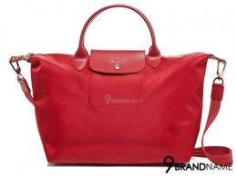 Long Champ Handbag & Crossbody Le Pliage Neo Red Size L 40x31x18 cm