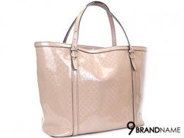 Gucci Neverfull Patant Nude 309613 213048 - Used Authentic Bag  กระเป๋า กุซซี่ หนังแก้ว สีชมพู  ทรงชอปปิ้ง ปากกว้าง ใช้งานสะดวก น้ำหนังเบา สายสะพายขึ้นไหล่ได้