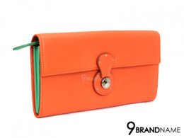 Ralph Lauren Long Wallet Orange  Soft  Ricky lock at the front