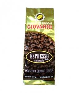 กาแฟโจวันนีรสเอสเพรสโซ่ ขนาด 200 กรัม แบบบด Blend Arabica+Robusta