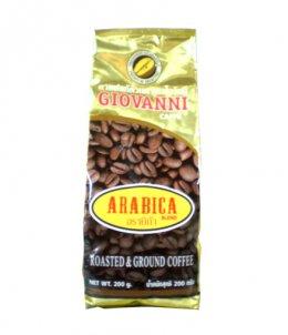 กาแฟโจวันนีรสอราบิก้า ขนาด 200 กรัม แบบบด Blend Arabica+Robusta