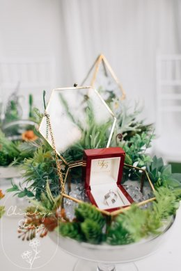 Minimal engagement ceremony at home