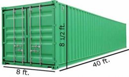 CONTAINER DIMENSIONS & WEIGHT
