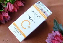 รีวิวเซรั่ม MERCI Vitamin C Extra Bright Serum