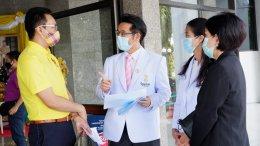 """โครงการ """" หมอช่วยเรา เราช่วยหมอ """" มอบตู้อบฆ่าเชื้อหน้ากากอนามัยด้วยแสง UVC"""