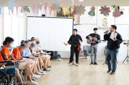 กิจกรรมดนตรีบำบัดสำหรับผู้สูงอายุ