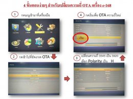 4 steps for changing the OTA frequency of the HD-e168