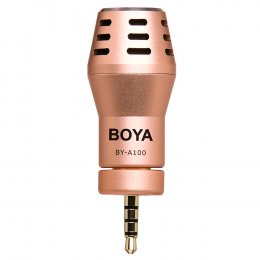 BOYA BY-A100 Condenser Microphone for iphone /ipad Rose Gold