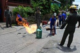เก็บตก...การฝึกซ้อมดับเพลิงและการหนีไฟ