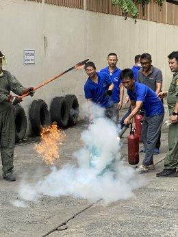 ภาพบรรยากาศการฝึกซ้อมดับเพลิงและอพยพหนีไฟ ประจำปี 2563