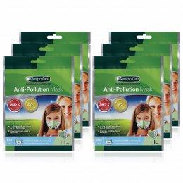 RespoKare หน้ากากป้องกันมลพิษและฝุ่นควัน สำหรับเด็ก สีฟ้า จำนวน 6ชิ้น