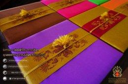 ชุดชงชาเซรามิก กล่องผ้าไหม (คาดเชือก) สีม่วง