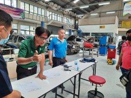 ทีมช่างบัญชาประดับยนต์ เข้ารับการทดสอบมาตรฐานฝีมือแรงงานแห่งชาติ