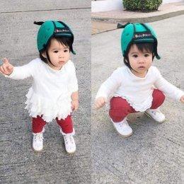 หมวกกันกระแทกสำหรับเด็ก (แดง/เขียว)