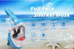 kid snokel shark mask หน้ากากดำน้ำ !