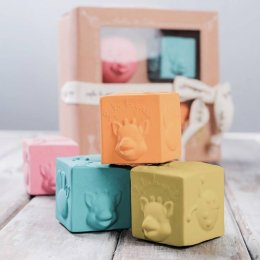 So'Pure Sophie la girafe® Cubes Sophie La Girafe So'Pure บล็อกยางสี่เหลี่ยม/วงกลม