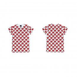 เสื้อยืดเด็ก pixel heart รับวาเลนไทน์
