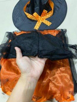 Pumkin witch (2 ชิ้น ชุด+หมวก)