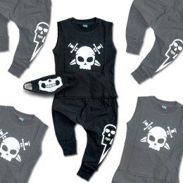 ชุดเซ็ต pirate skull แขนกุดกะโหลกโจรสลัด