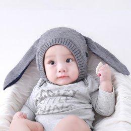 หมวกไหมพรมกระต่าย สำหรับเด็ก
