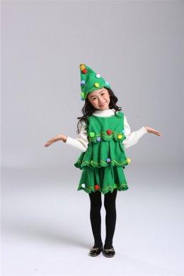 Xmas tree dress (แถมหมวกด้วย)