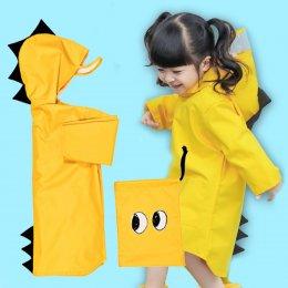 เสื้อกันฝนไดโนเสาร์ สีเหลือง สีฟ้า