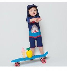 ชุดว่ายน้ำเด็ก ฉลาม (2 ชิ้น เสื้อ + หมวก)