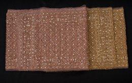 สไบผ้ากลิสเตอร์ปัก ลายราชวัฒน์