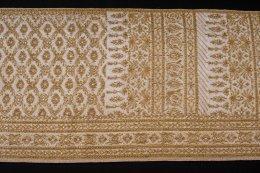 สไบผ้าโบราณแท้ปัก ลายอมินตรา ใหญ่พิเศษ