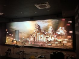 Behind: Projection Mapping Prasat Sdok Kok Thom