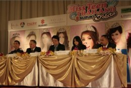 AJ ร่วมงานแถลงข่าวการประกวด มิสทีนไทยแลนด์ ประจำปี 2554