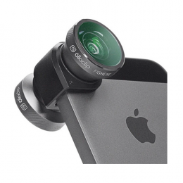 Olloclip 4-IN-1 Lens for iPhone 5/5s - Grey Lens/Black Clip