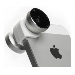 Olloclip 4-IN-1 Lens for iPhone 5/5s -  Silver Lens/White Clip