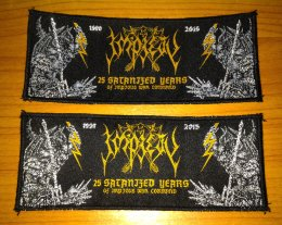 IMPIETY'25 Satanized Years....' Woven Patch. (strip)